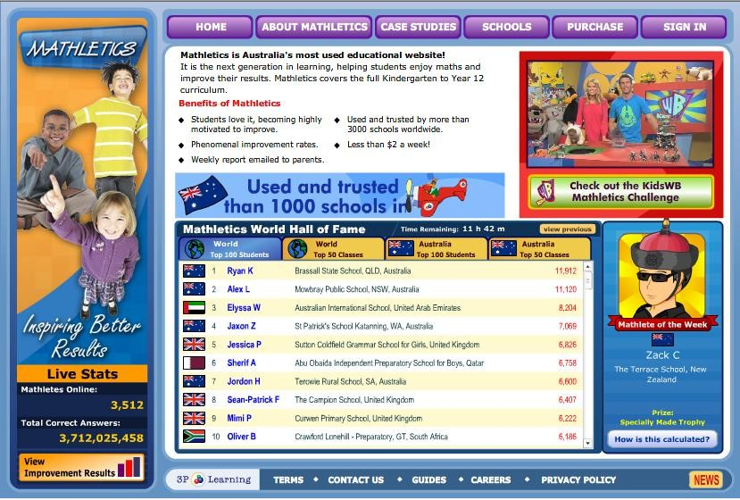 picture of the features of mathletics